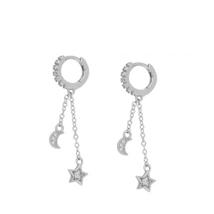MISURA EARRINGS NOTTE SILVER PEN1152
